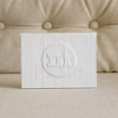 Wedding Pocket sized Vow Book - Personalized Monogram Pocket-sized Keepsake Holder
