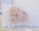 Shabby vintage chic ring pillow