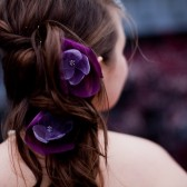 romantic amethsyt lilac purple rose blossom flower hair pins (2 pieces)