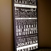 rules for a happy marriage sign