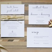 Wedding Invitation Suite: Country Style