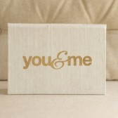 Wedding Vow Keepsake Gift - You and Me Gold Foil Silk Folio Keepsake - Vow Book - Bride and Groom Wedding gift
