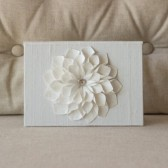 Wedding Vow Keepsake - Silk Vow Folio Dahlia Flower