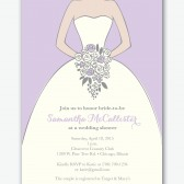wedding dress bride wedding shower invitation