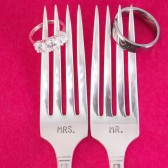 Mr. / Mrs. Wedding Cake Forks