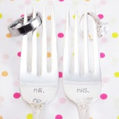 Mr. / Mrs. Wedding Fork Set