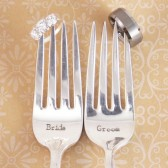 Bride Groom Wedding Fork Set