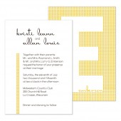 Monogram Wedding Invitation, Digital Download