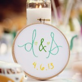 Embroidered Sweetheart Table Sign