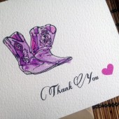 Country Wedding Thank You Card