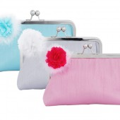 Wedding clutch sets with flower brooch