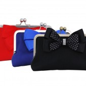 Wedding clutch sets with ribbon bow