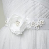White Flower Sash