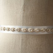 White Grecian Wedding Sash