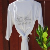 White Wedding Robe