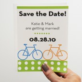 Modern Bicycle Save the Date Cards