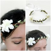 White Blossoms Floral Crown