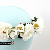 White Roses Bridal Floral Crown