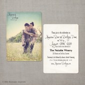 Marissa - 5x7 Vintage Wedding Invitation