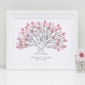Landscape Custom Thumbprint Wedding Tree Guestbook Print