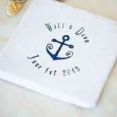 Anchor Wedding Favor Coasters