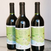 Custom Map Wine Bottle Labels