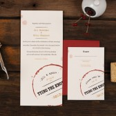 Wine Stain Wedding Invitation