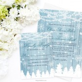 Winter Wonderland Wedding Invitations by The Spotted Olive