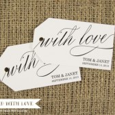With Love Wedding Favor Tags