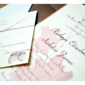 Rustic Woodland Watercolor Wedding Invitation