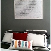 bedroom canvas art - lyrics over the bed