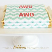 Personalized Chevron Chocolate Bar Wrappers and Gold or Silver Foils