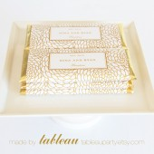 Personalized Floral Chocolate Bar Wrappers and Gold or Silver Foils