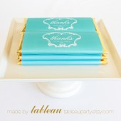 Personalized French Vintage Chocolate Bar Wrappers and Gold or Silver Foils