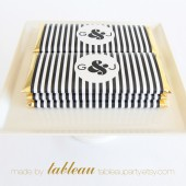 Personalized Mini Stripe Chocolate Bar Wrappers and Gold or Silver Foils