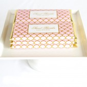 Personalized Scallop Candy Bar Wrapper and Foil