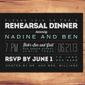 Printable Rehearsal Dinner Invite
