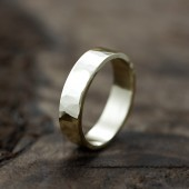 14k hammered band - 5mm