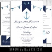 Nautical Invitation Suite - the Yacht Club