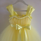 pale yellow flowergirl dress