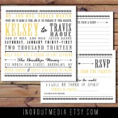 Rustic Yellow and Grey Invitation set