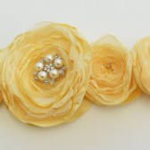 Yellow wedding sash