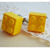Yellow Lego Groomsmen Cufflinks