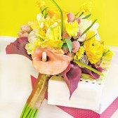 Yellow Wedding Flowers Fleur-de-lis Bridal Bouquet
