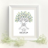 Deku Tree Thumbprint Tree Guestbook Print