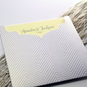 Zig Zag Pocket Wedding Invite