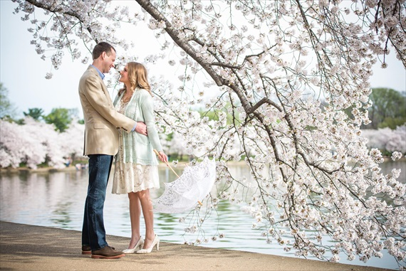 Emily Clack Photography - cherry blossom engagement session