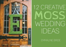 12 creative moss wedding ideas