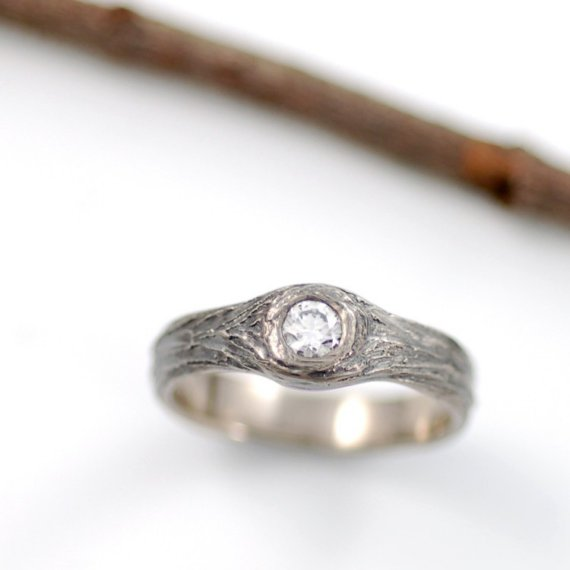 handmade wedding engagement ring (beth cyr weddings) via The Marketplace at EmmalineBride.com