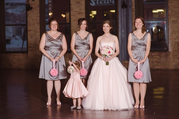 Duluth winter wedding - LaCoursiere Photography - bride and bridesmaids